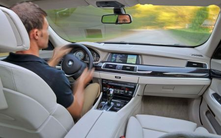 The BMW 5 series Gran Turismo cockpit